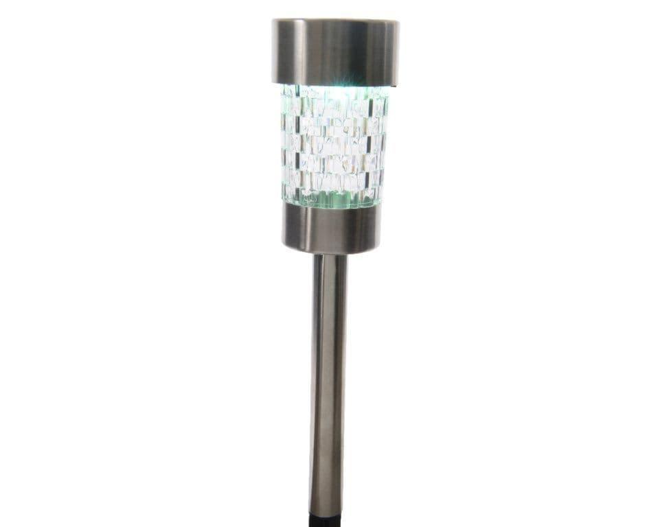 Lumineo LED Solar Stainless Steel Garden Light - Colour Changing
